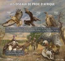 Z08 CA15616a CENTRAL AFRICA 2015 Birds Of Prey MNH - Centraal-Afrikaanse Republiek