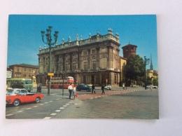 TORINO - Piazza Castello, Auto, Autobus - Cartolina FG C V 1969 - Piazze