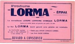 Buvard Lorma, Levure Lorraine Chimique Et Flan Lorma. - Cake & Candy
