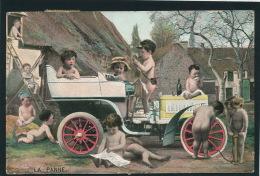"""ENFANTS - BEBES - Jolie Carte Fantaisie Bébés Et Automobile """" LA PANNE """" - KF Serie 1433 - Neonati"""