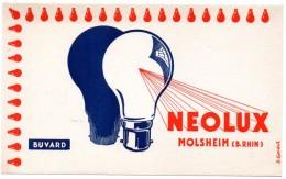 Buvard Lampes Neolux, Molsheim, Bas-Rhin. - Electricité & Gaz