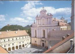 LT.- Vilniaus Universiteto Kiemo Ir SV. Jono Baznycios Fragmentas. University Courtyard And St. John's Church.  2 Scans - Litouwen