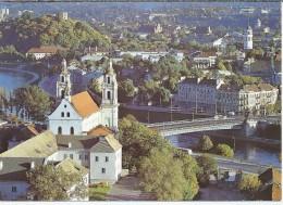 LT.- Vilniaus Panorama. Panorama Of Vilnius. Church.  2 Scans - Litouwen