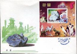 7972  North Korea,  Fdc  S/s Minerals  2000 - Minerals