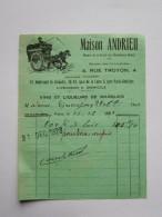 """1923.FACTURE, """" MAISON ANDRIEU"""",VINS ET LIQUEURS DE MARQUES,RUE TROYON,PARIS, - Alimentaire"""