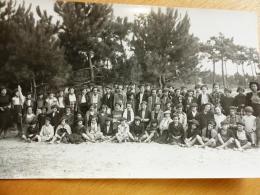 RARE CARTE PHOTO COLONIES VACANCES OLERON LA GIBOIRE ? L. LABADIE ST PIERRE - Ile D'Oléron