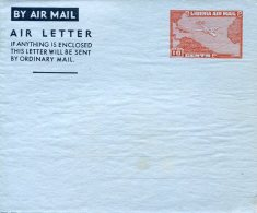 7989 Liberia,  Aerogramme Air  Letter 10c. Mint - Liberia