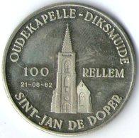 2892 Vz Oudekapelle-Diksmuide 100 Rellem – Kz Diksmuide Door De Eeuwen Heen - Jetons De Communes