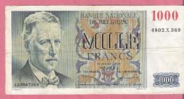 BELGIE 1000 FRANCS 7-3-1951 - [ 2] 1831-... : Royaume De Belgique