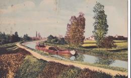 Carte 1930 Flaneries Et Berry : Canaux ,péniches ( Gabarre,chemin De Halage) - Non Classés
