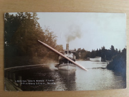MICHIGAN - INDIAN RIVER - LOOKING DOWN RIVER FROM COLOMBUS BEACH _ FOTO - 1913 - Cartes Postales