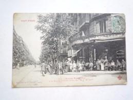 75 PARIS AVENUE PARMENTIER 1906  CIRCULEE DOS DIVISE  BON ETAT FLURY 1212 - France
