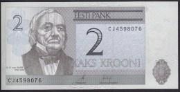 Estonia 2 Krooni 2007 P85b UNC - Estonie