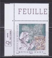 Métiers D´Art Sculpteur Sur Pierre Coin De Feuille Avec Logo écologie 0.70€ - France