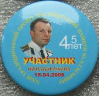399 Space Soviet Russian Badge Button Pin. GAGARIN. XXIII Mileage. Marathon Party - Space