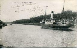 """N°15 E -cpa Ouistreham -canal De Caen à La Mer """"Trouville/Newhaven"""" - Commerce"""