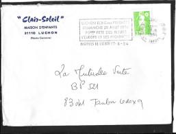 FLAMME TEMPORAIRE   31  BAGNERES DE LUCHON - Marcophilie (Lettres)