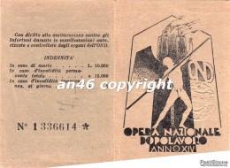 TESSERA-ANNO XIV-OPERA NAZIONALE DOPOLAVORO-O.N.D.-VEDI OFFERTA SPECIALE IN SPESE DI SPEDIZIONE - Documenti Storici