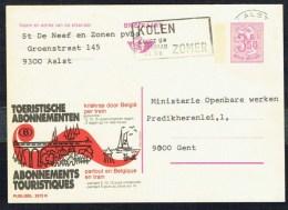 "CP Public. N° 2572  "" N.M.B.S. - Toeristische Abonnementen "" - Circulé / Used - 1976. - Entiers Postaux"