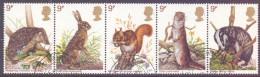 Great Britain 1977 Wildlife Strip Of 5  VFU - 1952-.... (Elisabetta II)