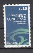 2013 Mauritius  FIFA Congress Football Complete Set Of 1 MNH - Mauritius (1968-...)