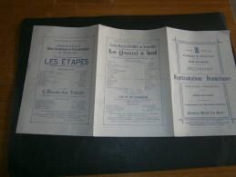 BRUXELLES 1912 - PROGRAMME KERMESSE DE BRUXELLES + FETES NATIONALES-REPRESENTATIONS THEATRE ROYAL DU PARC - Programmes