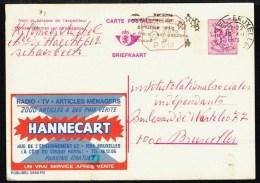 "CP Public. N° 2590-P010  "" Radio-TV HANNECART "" - Circulé / Used - 1975. - Entiers Postaux"