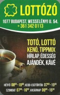 GAMBLING * FOOTBALL POOL * LOTTERY SHOP * FOUR LEAF CLOVER * BUDAPEST * COFFEE CUP * CALENDAR * Lottozo 2014 * Hungary - Calendari