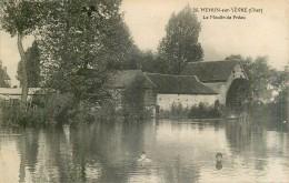Mehun-sur-Yèvre - Le Moulin De Préau Moulin à Eau Water Mill - Cher  18500  N° 36 - Dos Vert - Mehun-sur-Yèvre
