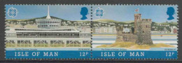 Isle Of Man 1987 Mi 335 /36 YT 330 /31 ** The Sea Terminal + The Tower Of Refuge In Douglas - Modern Architecture - Transportmiddelen