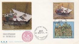 "Vaticaan - FDC 06-06-1972 - UNESCO-Aktion ""Rettet Venedig"" - Michel 599 - 604 - UNESCO"