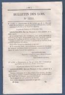 1845 BULLETIN DES LOIS - MARECHAL SOULT - MOLINE DE SAINT YON - MARTINEAU DES CHENEZ - PRIMES EXPORTATION - BESANCON ... - Décrets & Lois