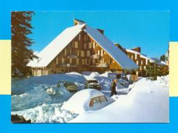 CPM  FRANCE  09  ~  GUZET-NEIGE  ~  2302  Prat Mataou, L'hôtel La Sapinière  ( Larrey 80/90 )  Animée Autos - Francia