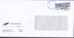 Spain FLIGHT CONSULTING, TRES CANTOS Madrid 1998 Cover Letra ATM / Frama Label Barcos De Época Schiff Ship - Poststempel - Freistempel