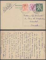 CC181 Entier De Knocke à Bruxelles 1945 Affranchissement Complémentaire - Enteros Postales