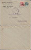 CC191 Lettre Crédit Anversois De Lessines à Bruxelles 1917 Controle Militaire Ath - Belgique