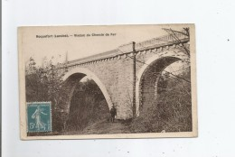 ROQUEFORT (LANDES) VIADUC DU CHEMIN DE FER (HOMME ET SON CHIEN) 1911 - Roquefort
