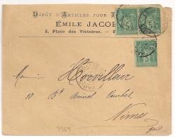 PARIS  GARE DE LYON Sur Enveloppe SAGE Emile JACOB. - Marcophilie (Lettres)