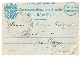 RARE CONVOIS AUTOMOBILES, GROUPE ABEILLE Sur CARTE DE FRANCHISE MILITAIRE. Char D'assaut Dans Le Texte ! - Guerra De 1914-18
