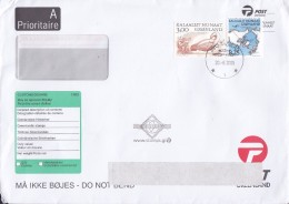 Greenland A Prioritaire TASIILAQ 2005 Cover Brief Customs Douane (CN22) Arktische Wikinger & Polar Rute Stamps - Cartas