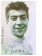 Cyclisme - Willy PLANCKERT - Signé De - Dédicace - Hand Signed - Autographe Authentique  - - Cyclisme