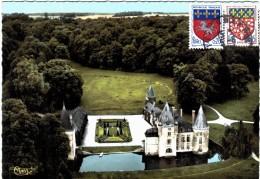 Carte Postale Ancienne De BRUGNY-vue Aérienne - Le Château - Frankrijk