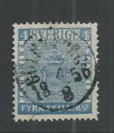 1855 USED Sweden, Mi No 2 - Usati