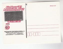 1997 POLAND AEROInterLot  AIR SHOW Illus ADVERT Postcard  BYDGOSZA  Aviation Aircraft Flight - Meetings