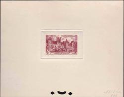 France épreuves D'artistes 1950 à 1954 N°878 12f Palais De Fontainebleau épreuve En Rouge-brun Qualité:  Cote: - Epreuves D'artistes