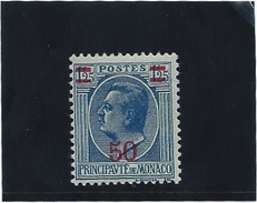 MONACO   N° 108    *           Valeur YT :  1,75  € - Unused Stamps
