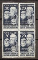 1950 Italia Italy Repubblica LANIERI 4 Serie In Quartina MNH** - Textile