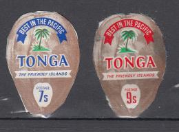 Tonga 1972 Mi Nr 419 + 422 Kokosnoot, Coconut - Tonga (1970-...)