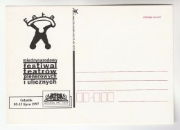 1997 Poland INTERNATIONAL Festival Of OPEN AIR THEATRE  Illus ADVERT Postcard  GDANSK - Theatre
