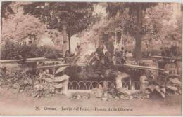 Orense. Galicia. Jardin Del Posio. Fuente De La Glorieta. CPA Timbrée. 2 Scans. - Orense